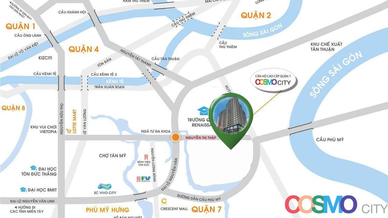 Vị trí Dự án Căn hộ Chung cư Cosmo II Nguyễn Thị Thập Quận 7