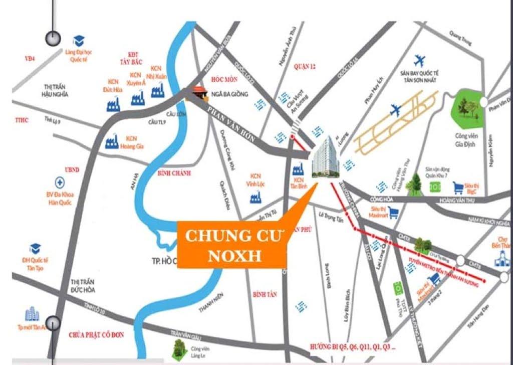 Vị trí Dự án Căn hộ Chung cư Nhà ở xã hội Lê Minh Quận 12