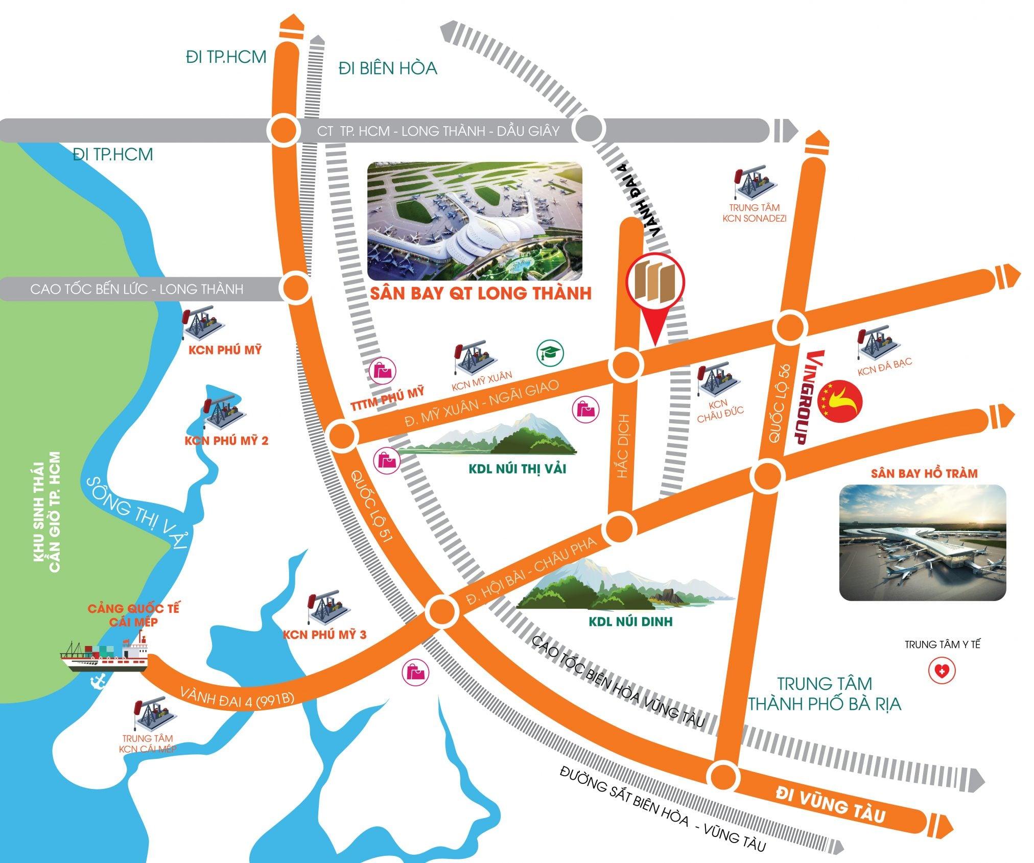 Vị trí dự án dự án Phú Mỹ Future City