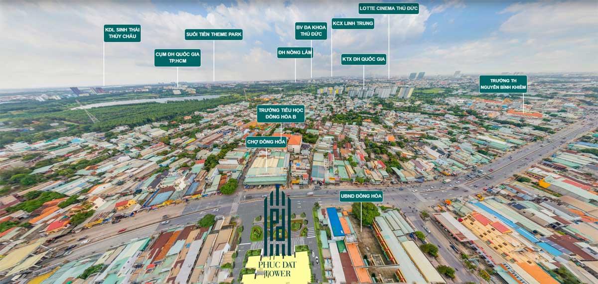 Hệ thống tiện ích ngoại khu Dự án Phúc Đạt Tower Quốc lộ 1K