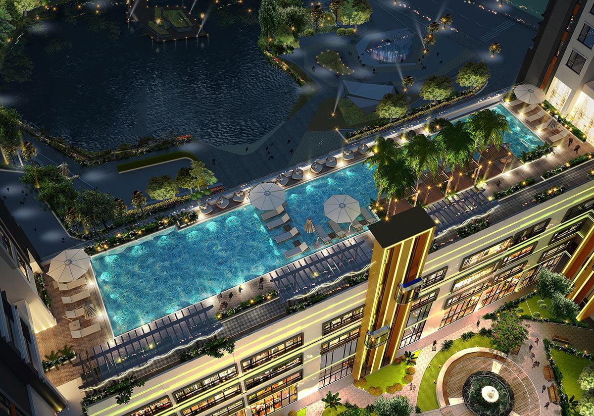 Hồ bơi Dự án Hưng Lộc Phát Complex