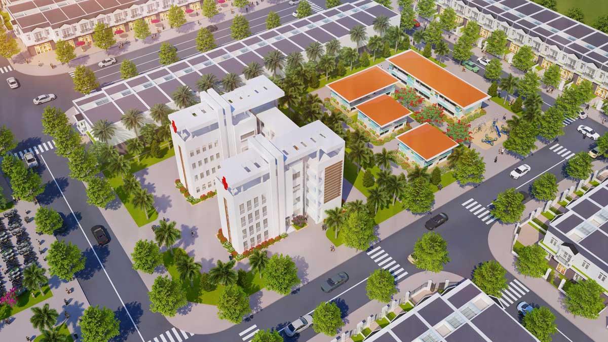 Khu trường học Dự án Nam An New City Bình Dương