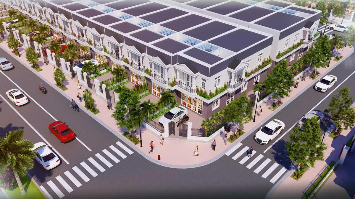 Phối cảnh Nhà phố Thương mại Shophouse Nam An New City Bình Dương