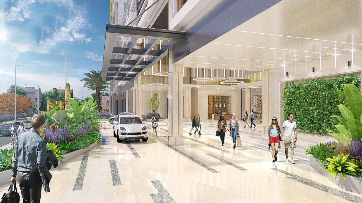 Sảnh đón Dự án Hưng Lộc Phát Complex