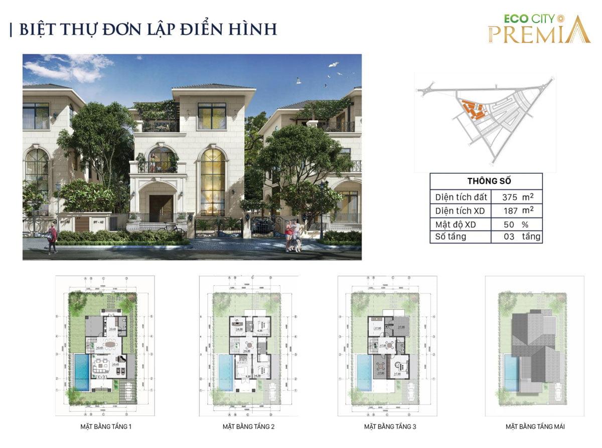 Thiết kế biệt thự dự án eco city premia