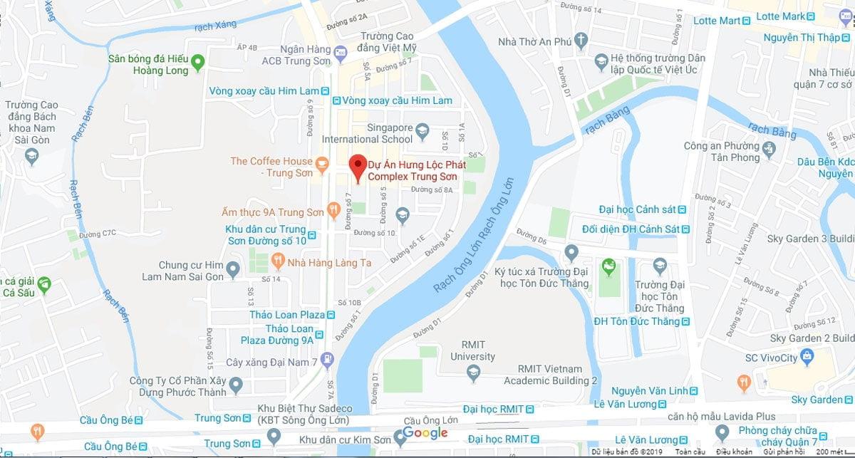 Vị trí Dự án Hưng Lộc Phát Complex