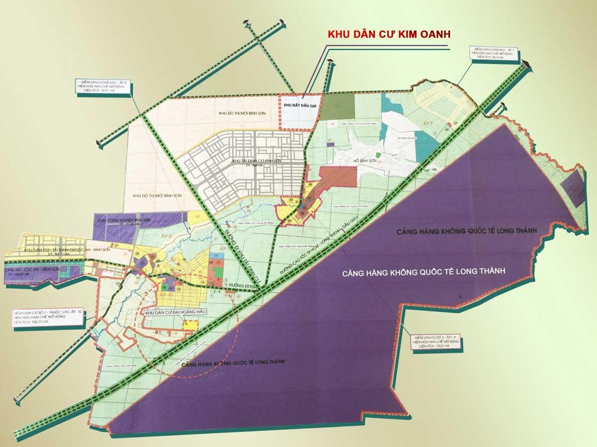 Bản đồ Vị trí Dự án Khu Dân cư Bình Sơn Long Thành Đồng Nai