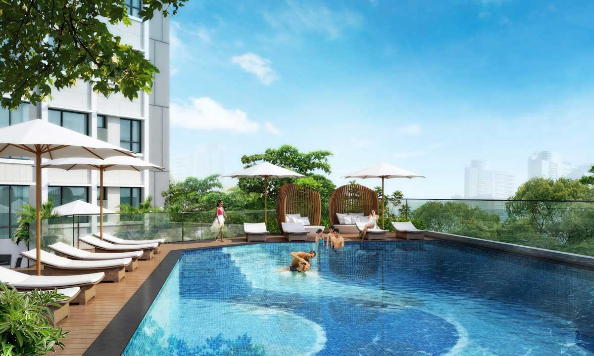 Hồ bơi Dự án Căn hộ Tam Đức Plaza Quận 5