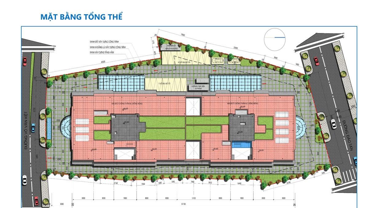 Mặt bằng Tổng thể Dự án Căn hộ Tam Đức Plaza Quận 5