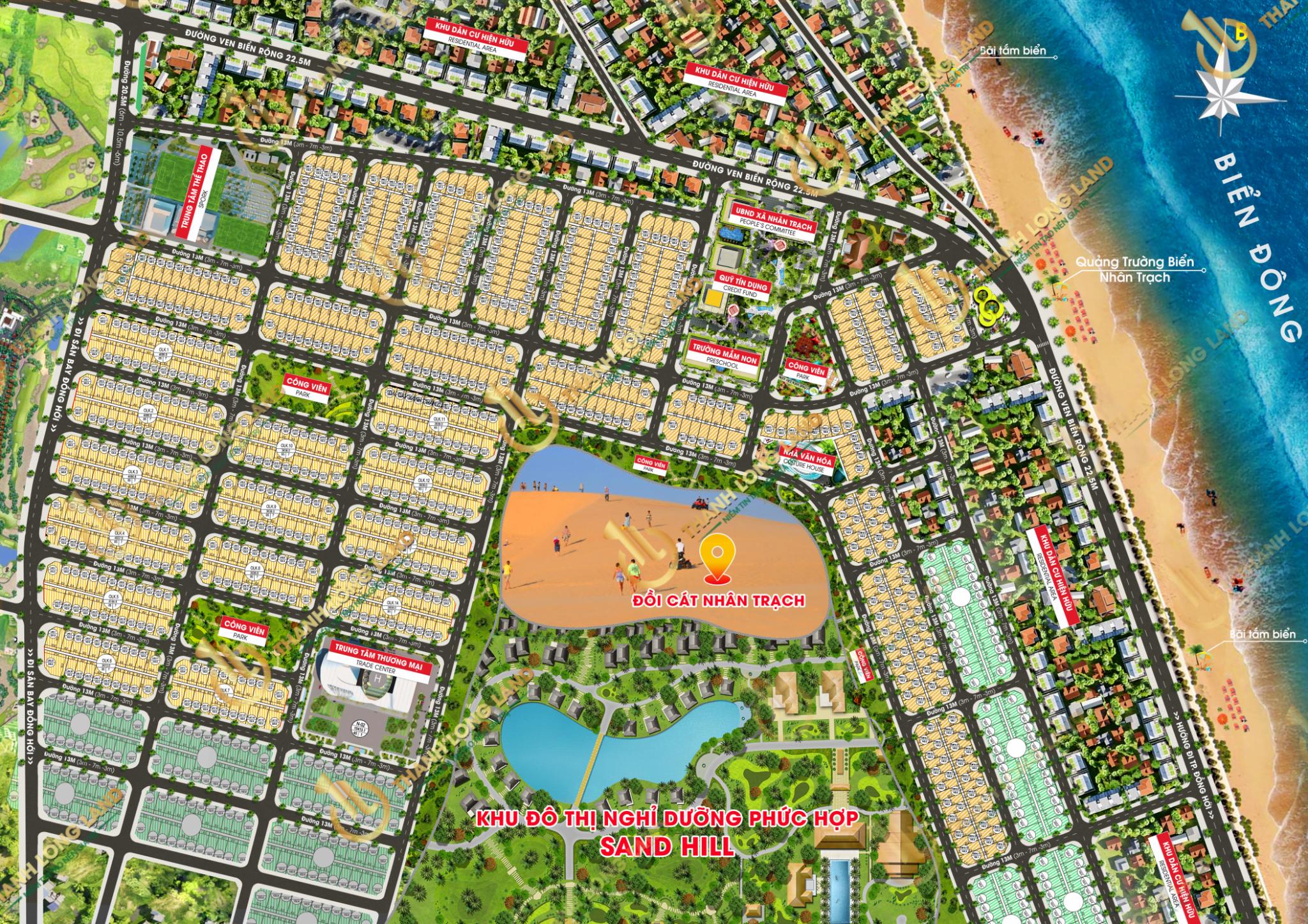 Mặt bằng phân lô dự án đất nền gosabe city quảng bình