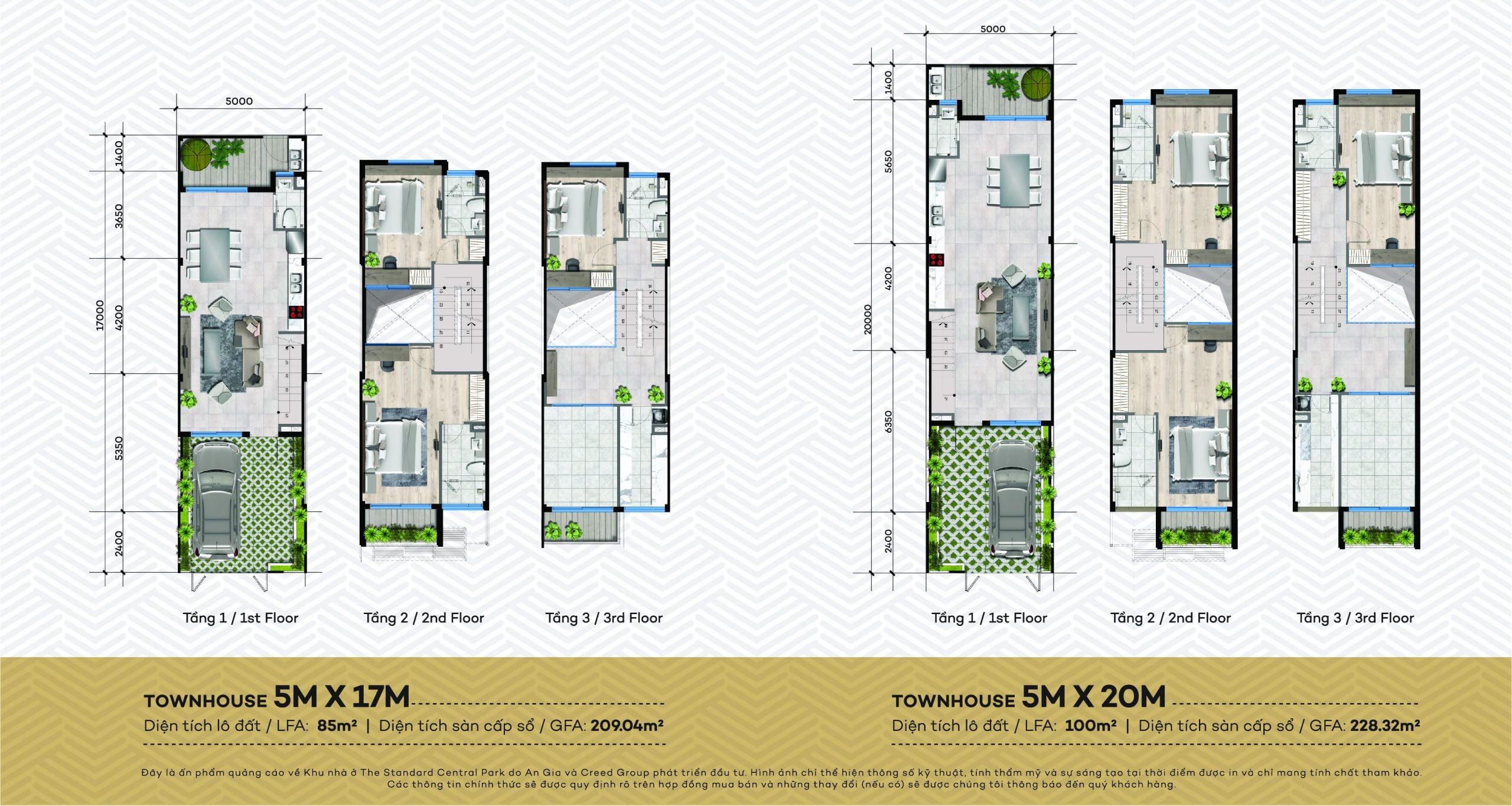 Thiết kế chi tiết dự án nhà phố The Standard Central Park