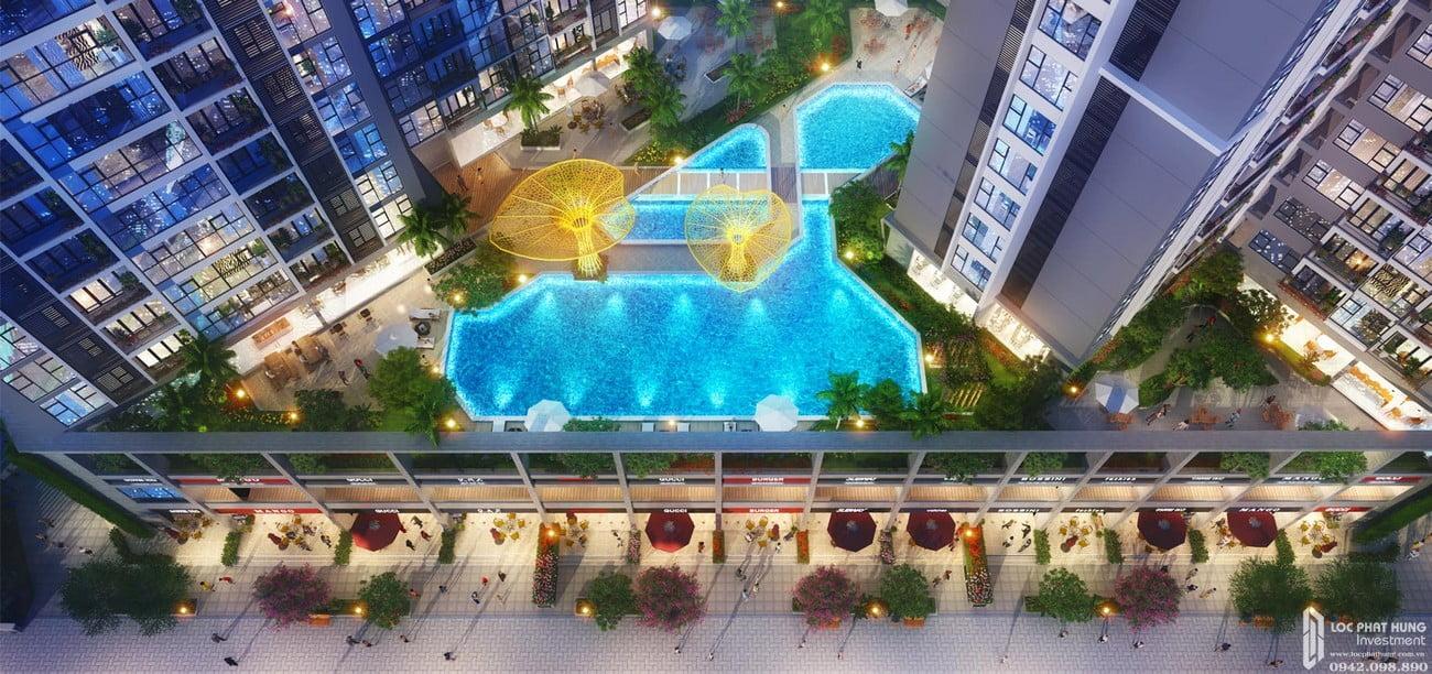 Hồ bơi tầng 3 dự án Căn Hộ chung cư Green tower Dĩ An