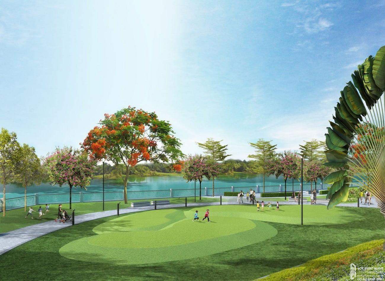 Công viên dự án Căn Hộ chung cư Green tower Dĩ An