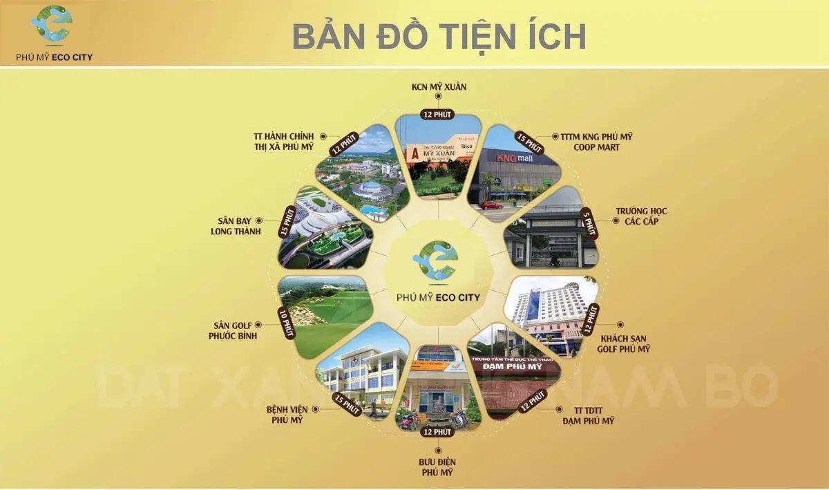 Bảng đồ tiện ích đẳng cấp về Phú Mỹ Eco City Bà Rịa