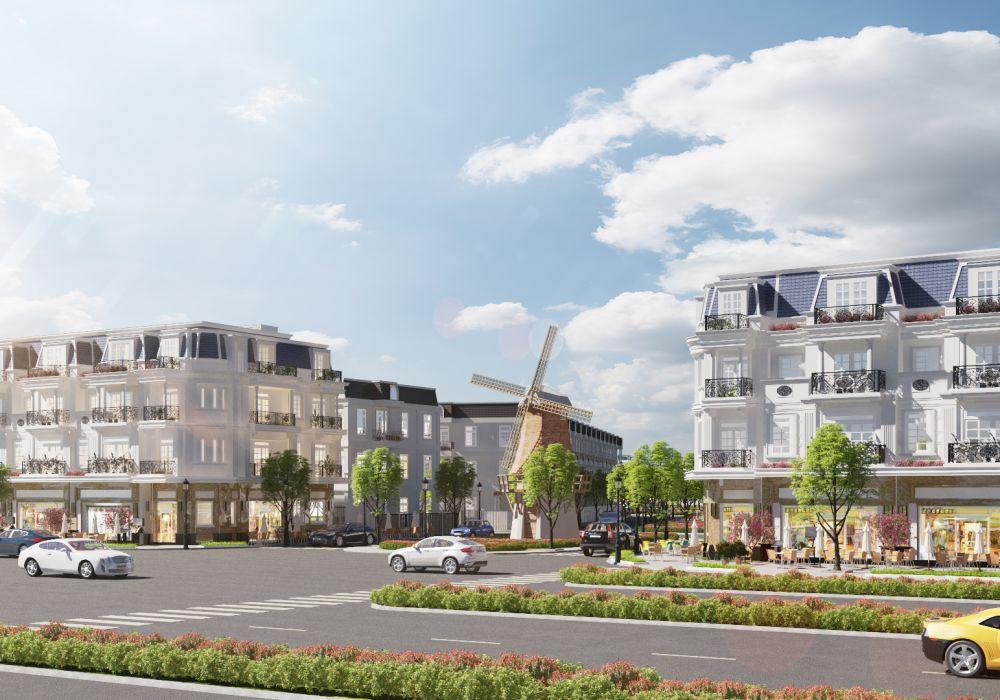 Trục đường chính dự án đất nền Tân Lân Residence Long An