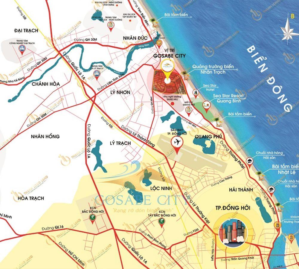 vị trí dự án gosabe city quảng bình