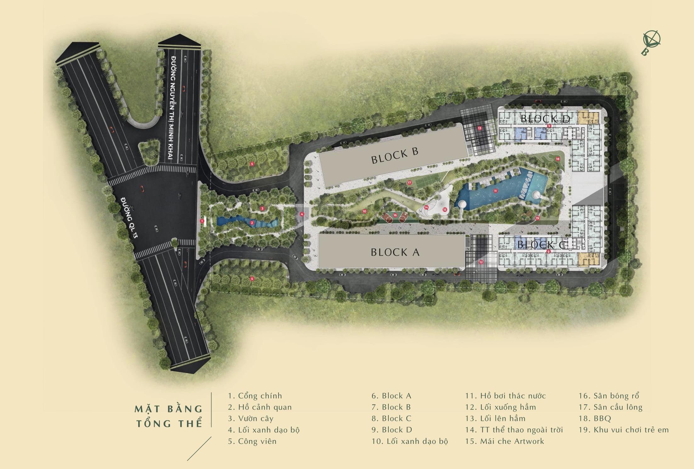 Mặt bằng Tổng thể Dự án Anderson Park Bình Dương