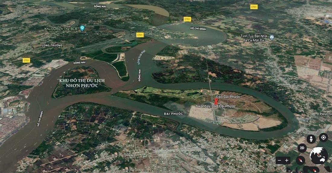 Vị trí Khu đô thị Angel island Nhơn Phước Đồng Nai