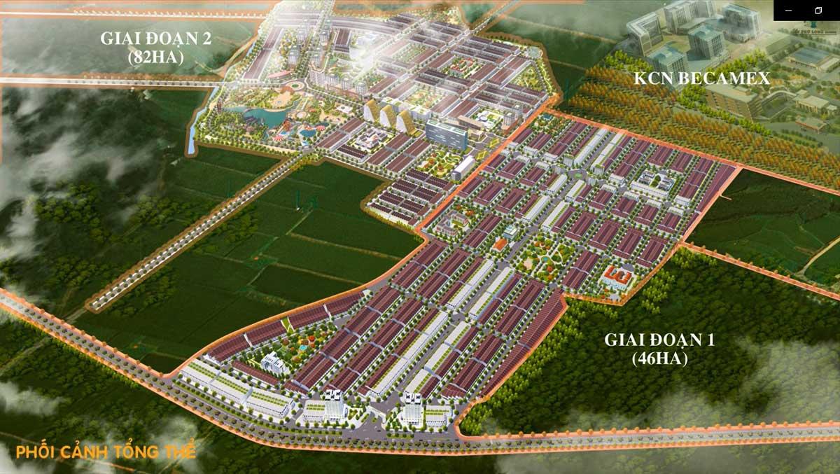 Mặt bằng Dự án Khu đô thị An Phú Long Garden Phú Giáo Bình Dương