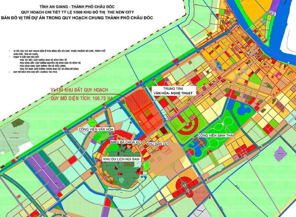 Bản đồ Quy hoạch chi tiết 1/500 Dự án The New City Châu Đốc