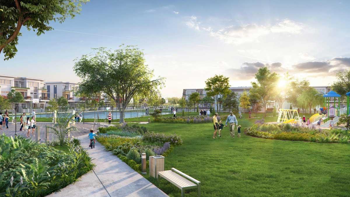 Khu công viên Dự án Nhà phố Lovera Premier