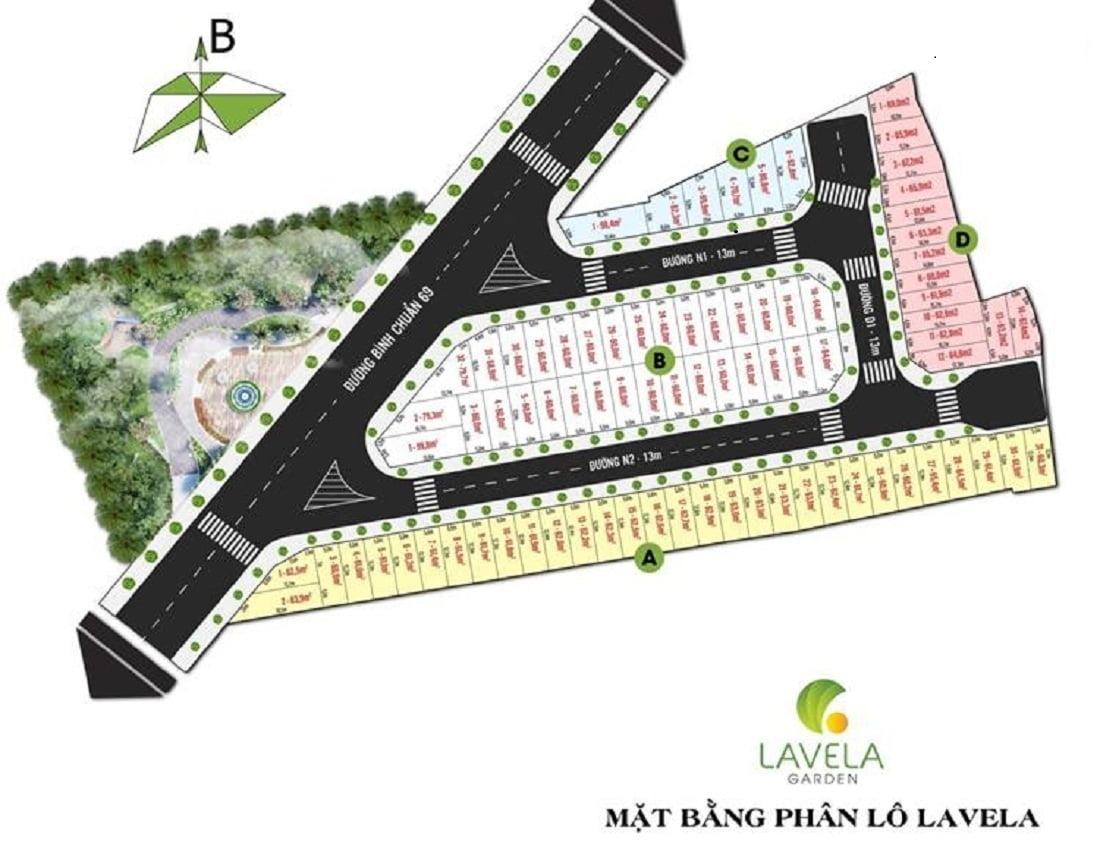 Mặt bằng phân lô chính thức dự án nhà phố La Vela Garden Bình Dương