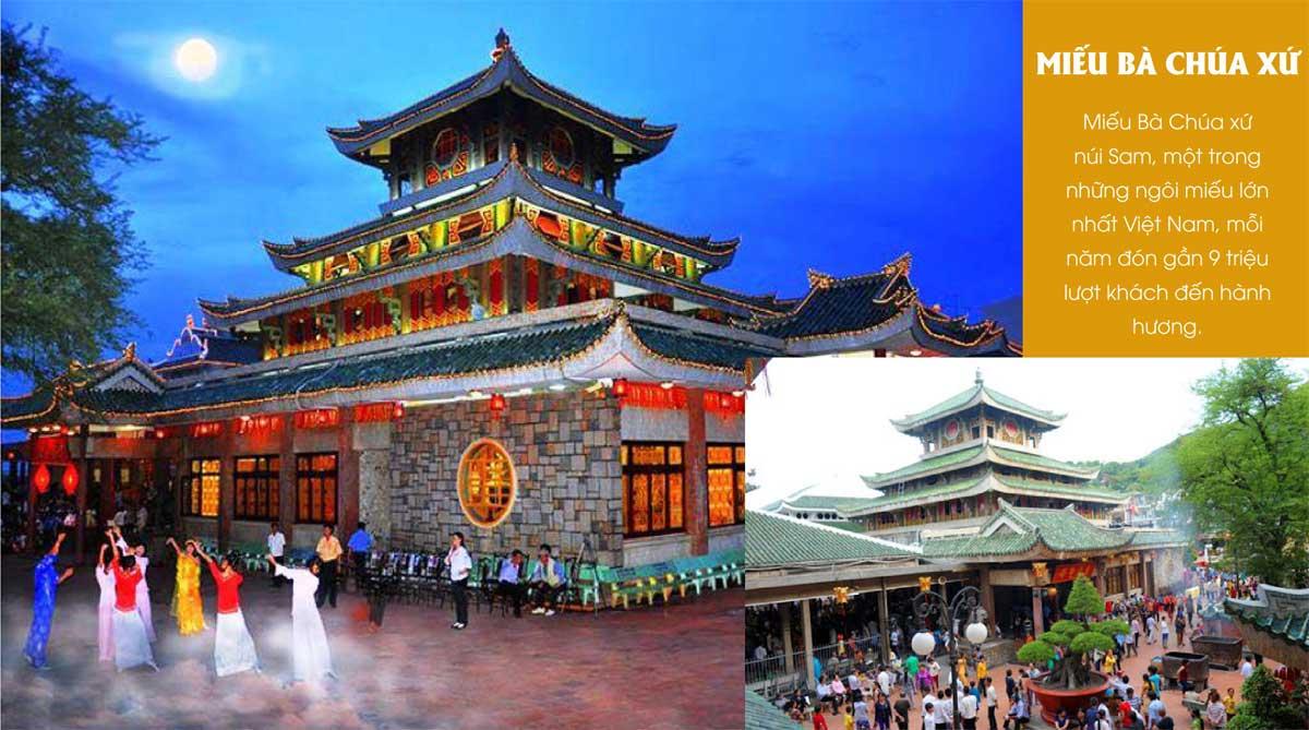 Miếu Bà Chúa xứ núi Sam, một trong những ngôi miếu lớn nhất Việt Nam