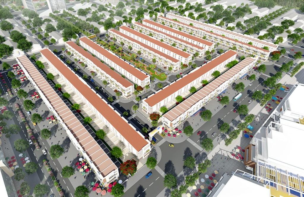 Phối cảnh Dự án The Centre House Nhơn Trạch Đồng Nai