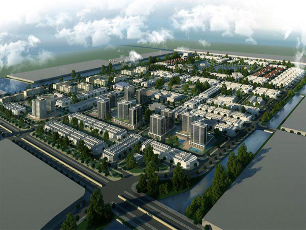 Phối cảnh tổng thể Dự án Khu đô thị The New City Châu Đốc