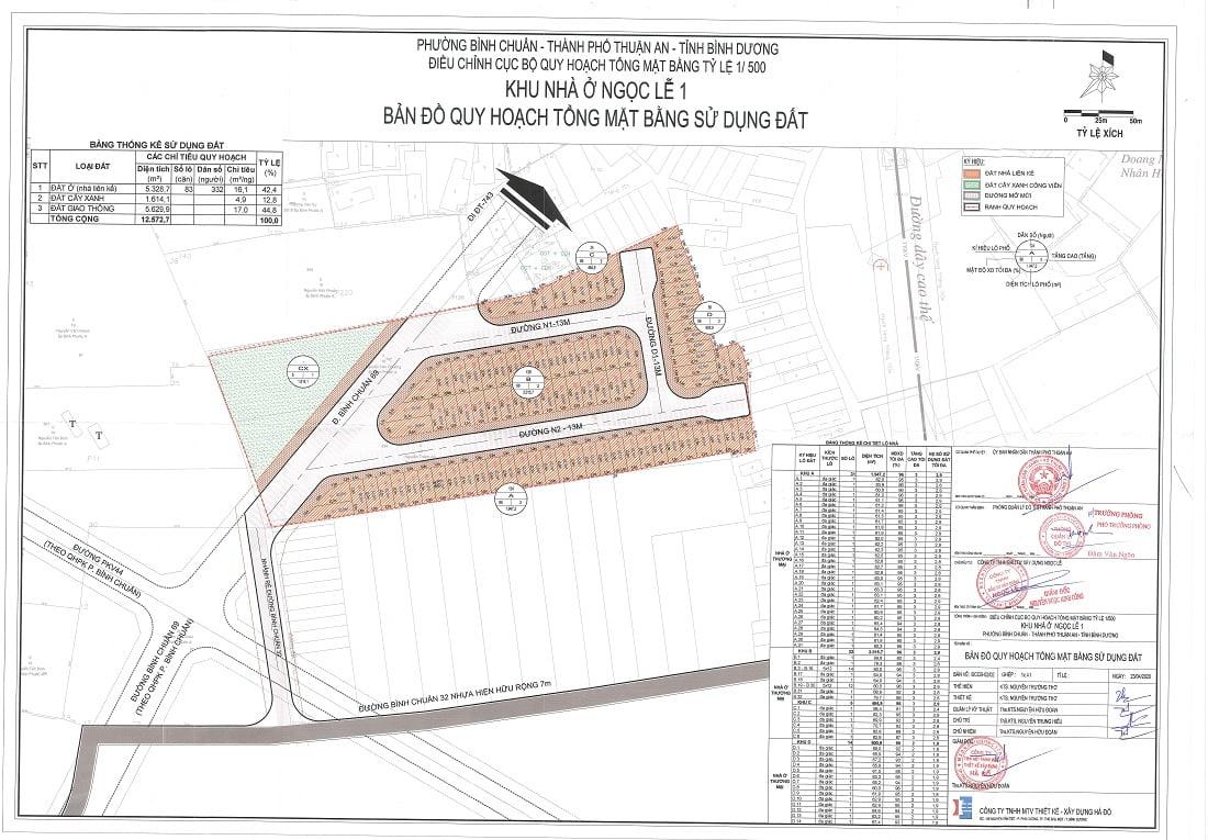 1/500 dự án nhà phố La Vela Garden Bình Dương