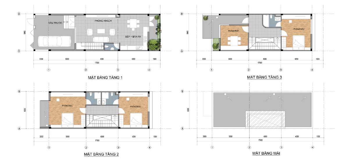 Thiết kế Nhà phố Dự án The Centre House Nhơn Trạch Đồng Nai