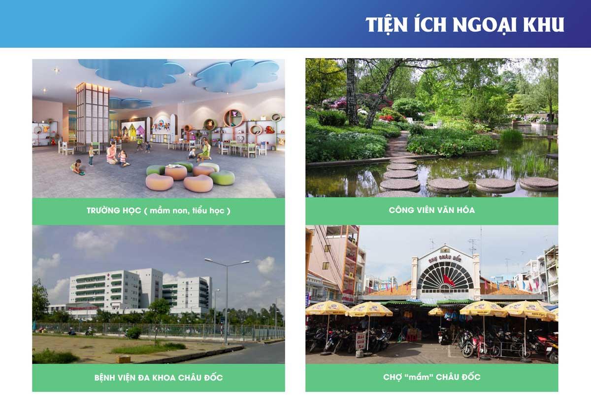 Tiện ích ngoại khu Dự án Khu đô thị The New City Châu Đốc