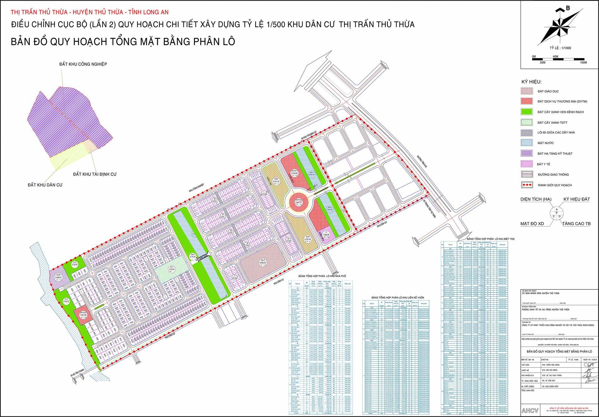 Bản đồ Quy hoạch Dự án Khu Nhà Vườn Bên Sông Garden Riverside Long An