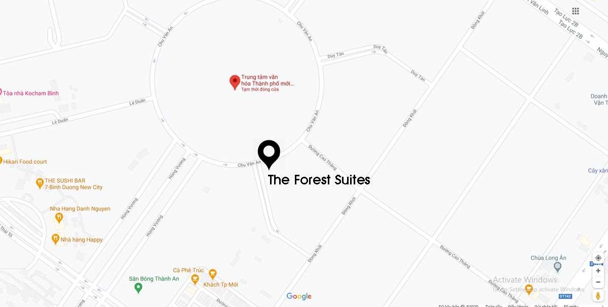 Vị trí Dự án Căn hộ The Forest Suites Bình Dương