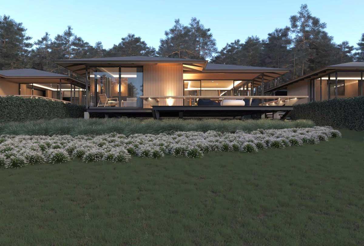 Nhà mẫu biệt thự kiwuki village bảo lộc