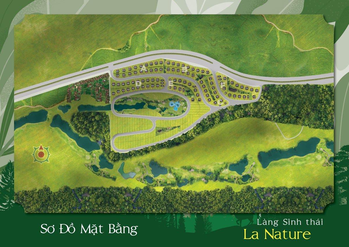 Sơ đồ Phân lô Làng Sinh Thái La Nature Bảo Lộc