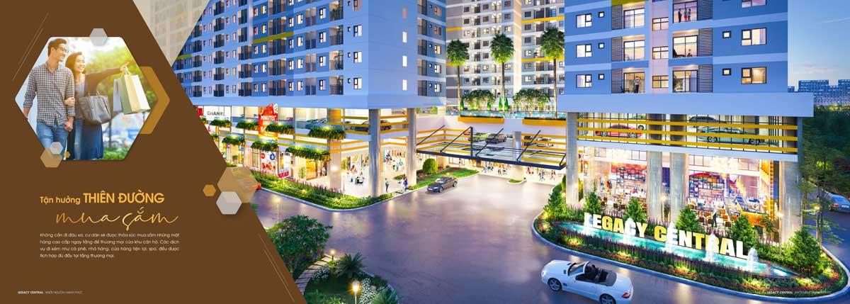 Thiên đường mua sắm tại Legacy Central Bình Dương