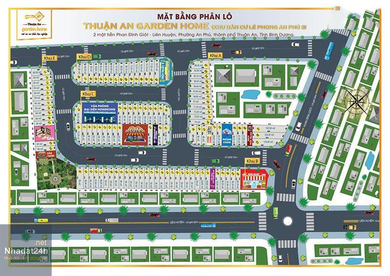 Mặt bằng dự án Thuận An Garden Home