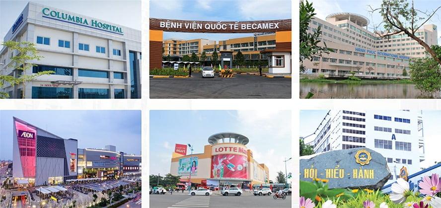 Tiện ích ngoại khu dự án Thuận An Garden Home