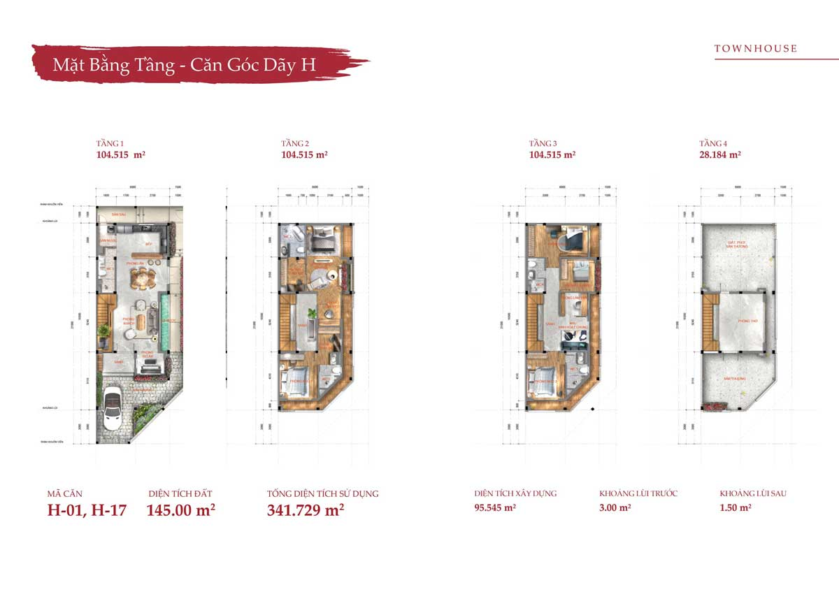 Thiết kế Nhà phố Townhouse Takara Residence Bình Dương