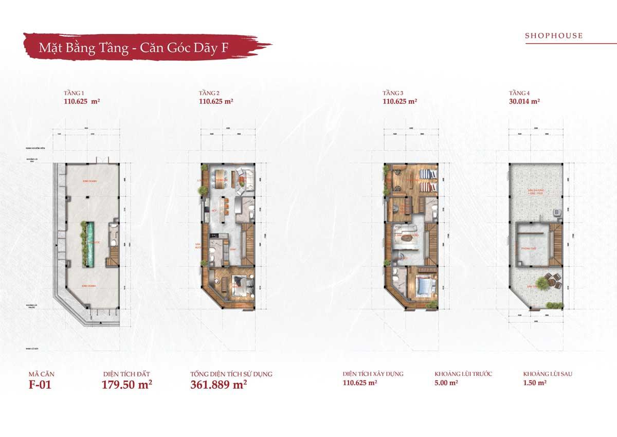 Thiết kế Nhà phố Shophouse Lô Góc Takara Residence Bình Dương