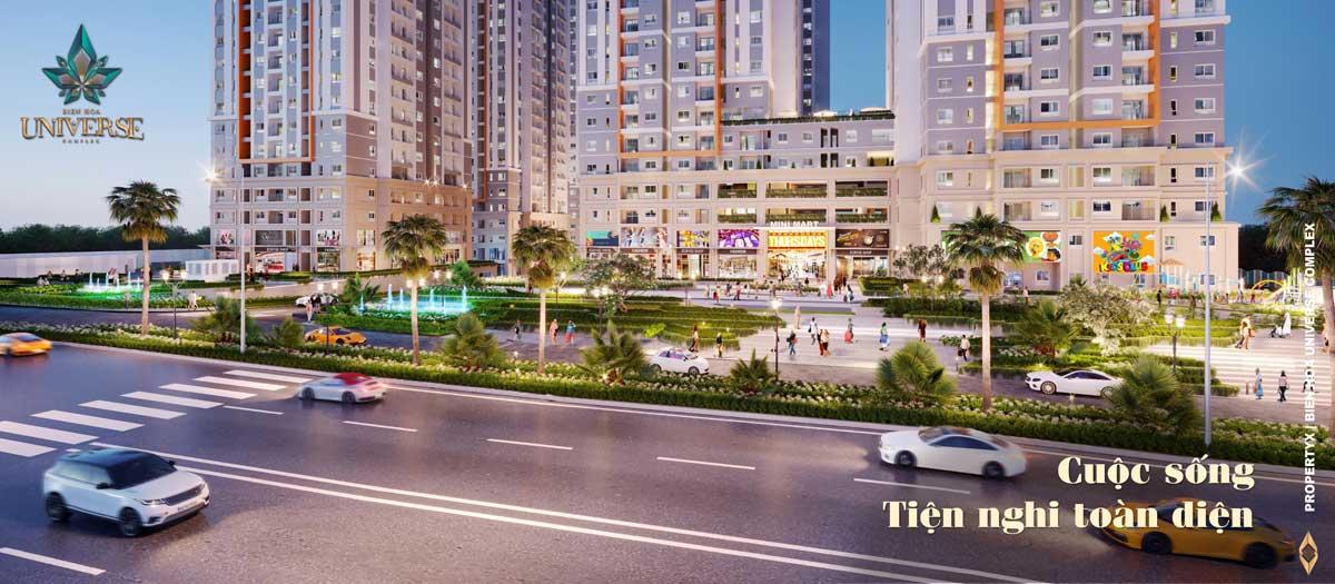Tiện ích mua sắm tại Chung cư Biên Hòa Universe Complex