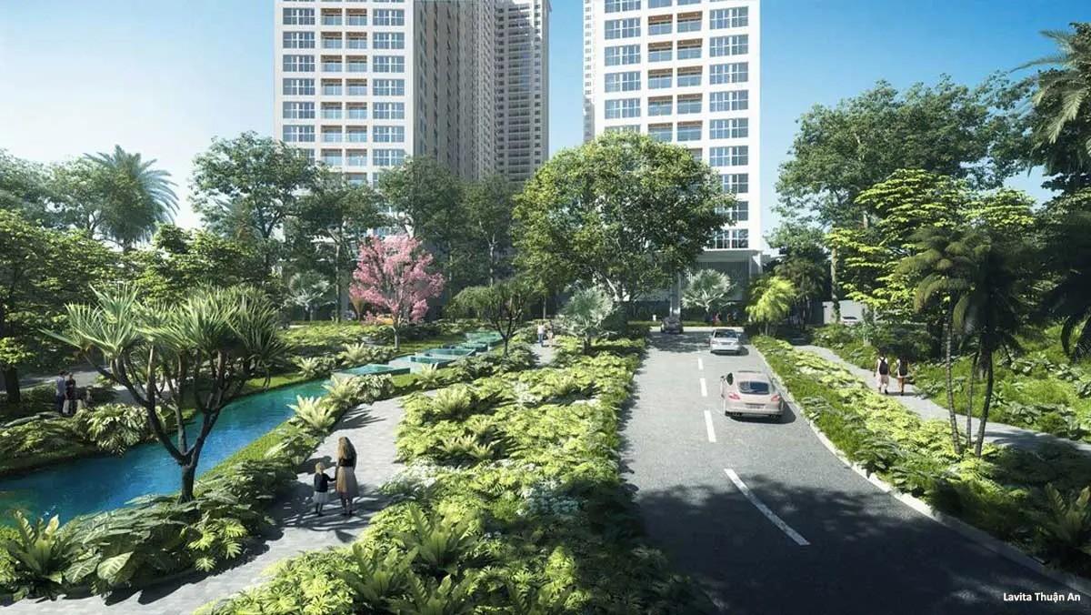 Dường nội khu Dự án Lavita Thuận An Bình Dương