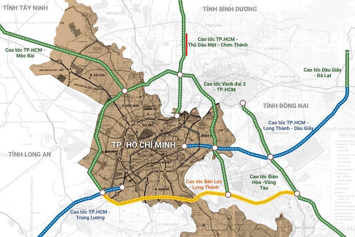 Tuyến cao tốc Tp. Hồ Chí Minh –Thủ Dầu Một – Chơn Thành